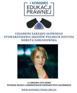 """Dorota Zabłudowska, członkini Zarządu Głównego Stowarzyszenia Iustitia Polska - """"Polish Judges"""""""